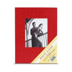 Kırmızı 100 lük Deri Fotoğraf Albümü 10x15 cm
