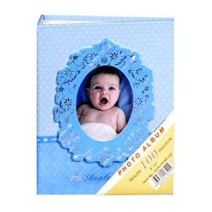 Mavi 100 lük 10x15cm Bebek Fotoğraf Albümü