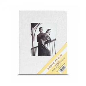 Beyaz 100 lük Deri Fotoğraf Albümü 10x15 cm