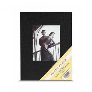 Siyah 100 lük Deri Fotoğraf Albümü 10x15 cm