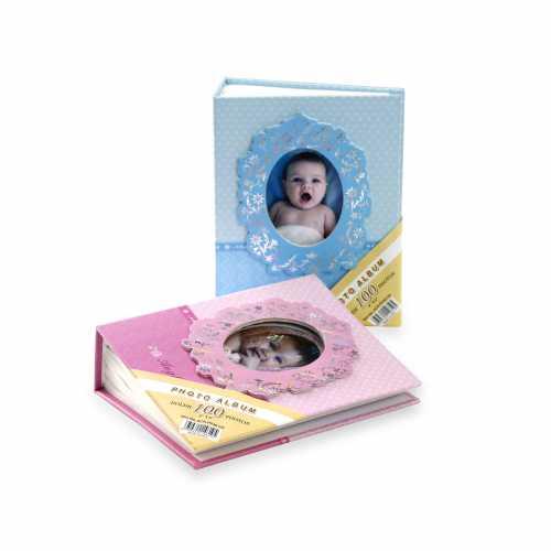 Pembe 100 lük 10x15cm Bebek Fotoğraf Albümü