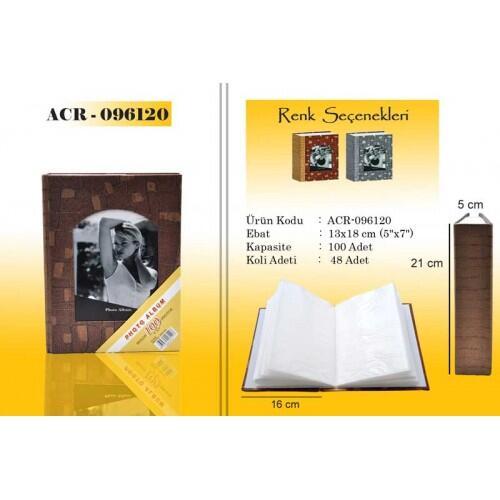 Gri 100 lük 13x18cm Fotoğraf Albümü