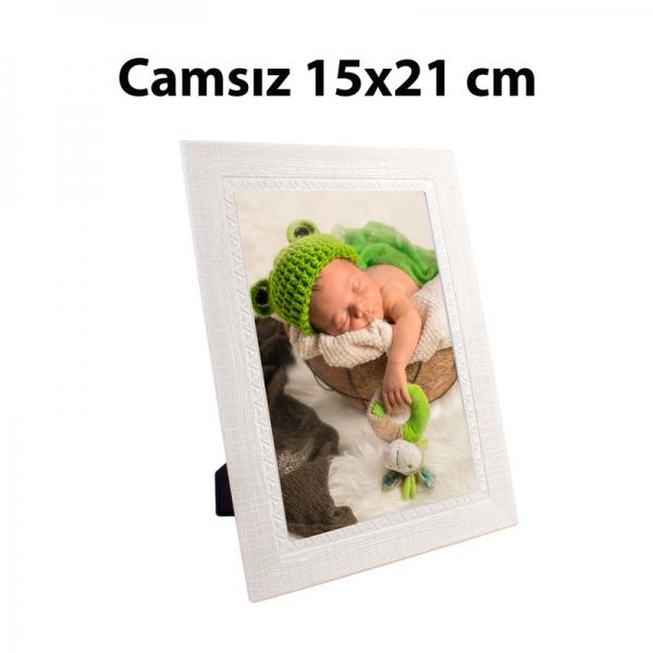 Camsız Plastik Beyaz Çerçeve 15X21 cm