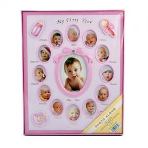 Pembe 240 lık 10x15 cm Bebek Fotoğraf Albümü