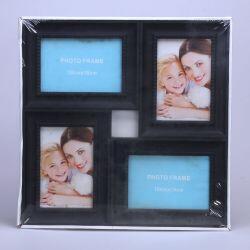 4 lü Fotoğraf Çerçevesi 10x15 cm (siyah )