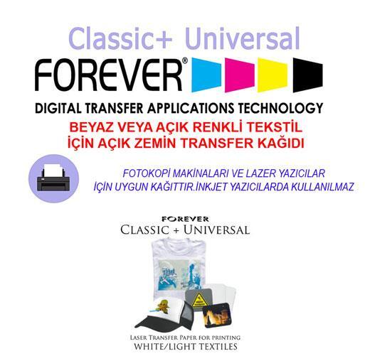 A3 Forever Classic Universal Açık Zemin Transfer Kağıdı