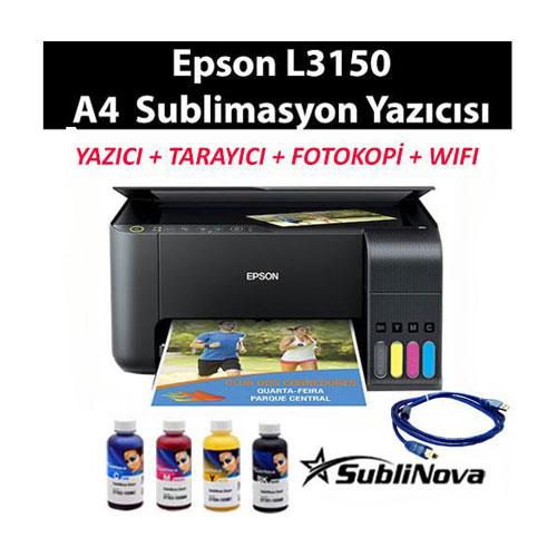 EPSON L3150 SUBLİMASYON YAZICI SİSTEMİ - www.serfoto.com.tr