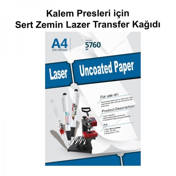 A4 Lazer Sert Zemin Transfer Kağıdı (Kalem Presleri için)