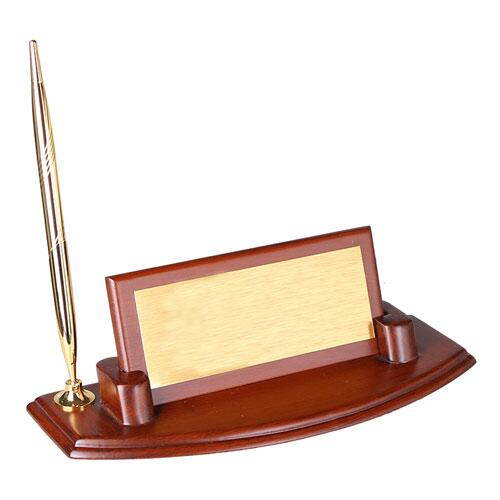 Ceviz Ahşap Masa İsimliği - Tek Kalemli