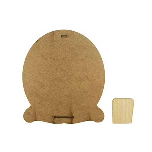 Eko.Ahşap Oval Fotoğraf Çerçevesi 10x15 cm