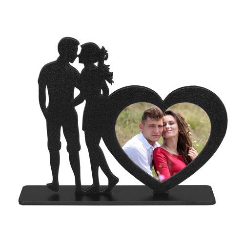 Siyah Ahşap Love Çerçeve 25x21 cm