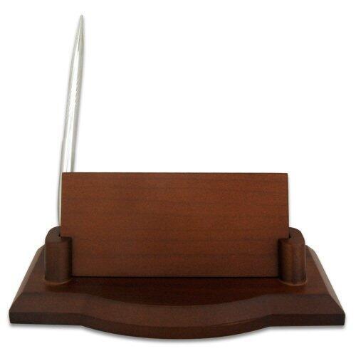 Ahşap Masa İsimliği - Tek Kalemli Gümüş