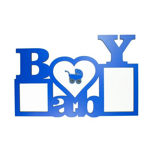 Ahşap Bebek Baby Çerçeve (Mavi)