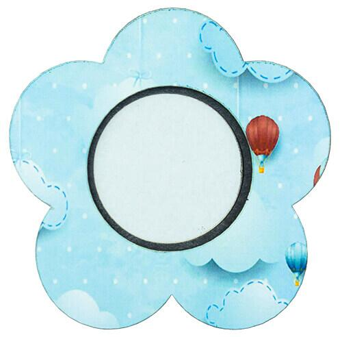 Ahşap Çiçek Magnet (Mavi)