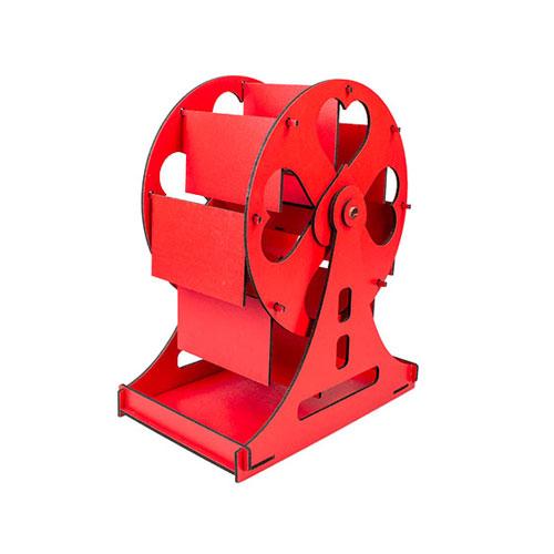 Ahşap Dönme Dolap Çerçeve 25cm (Kırmızı)