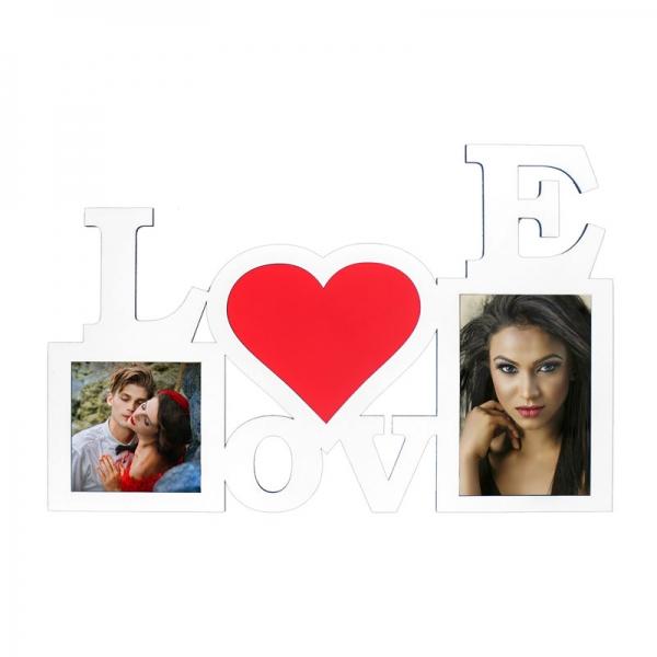 Ahşap Love Fotoğraf Çerçevesi