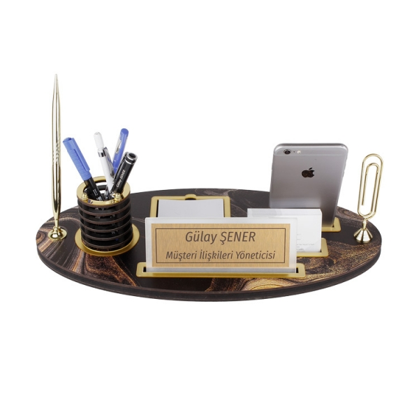 Ahşap Masa İsimliği-Tek Kalemli