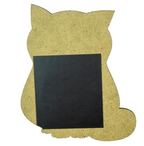 Ahşap Mavi Kedi Magnet