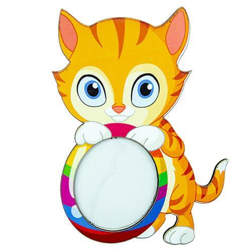 Ahşap Renkli Kedi Magnet