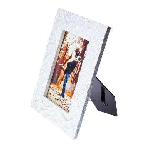 Beyaz Dalgalı Taş Fotoğraf Çerçevesi 10x15 cm