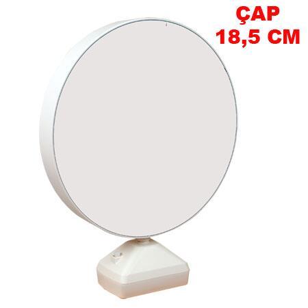 Butonlu Sihirli Led Ayna Çerçeve-Yuvarlak 18.5 cm