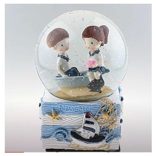 Deniz Temalı Müzikli Kar Küresi