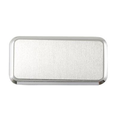 Dikdörtgen Metal Yaka İsimliği (gümüş)