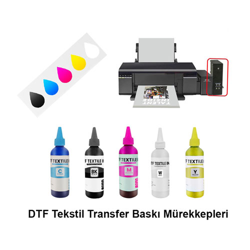 DTF Kırmızı Tekstil Baskı Mürekkebi 100 ml
