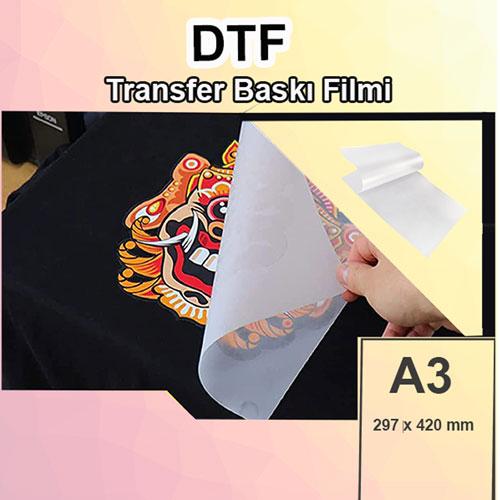 A3 DTF Pet Transfer Baskı Filmi - 100 adet