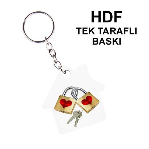 HDF Tek Taraflı Anahtarlık - Ev