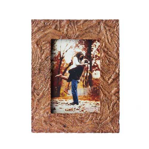 Kahverengi Dalgalı Taş Fotoğraf Çerçevesi 10x15 cm