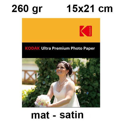 Kodak 15x21 Mat (Satin) Fotoğraf Kağıdı 260 gr