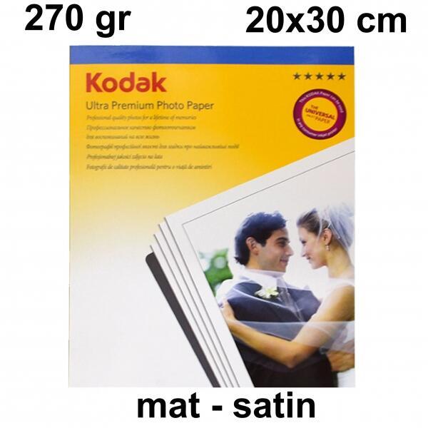 A4 Kodak 20x30 Mat (Satin) Fotoğraf Kağıdı 270 gr