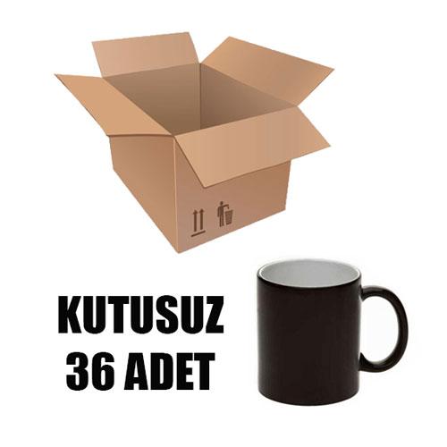 Kutusuz 1 Koli Sublimasyon Porselen Siyah Kupa (36 adet)
