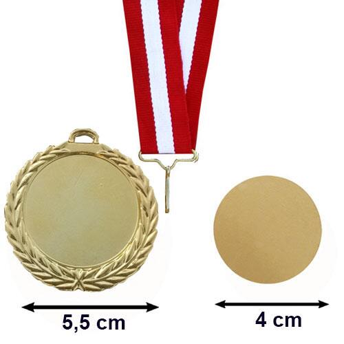 MD-05A Sublimasyon Altın Madalya 5.5 cm