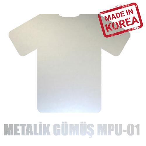 Metalik Gümüş Flex / 51 cm x 2 m=1 m2