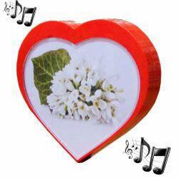 Müzikli Dönen Çerçeve (kalp)