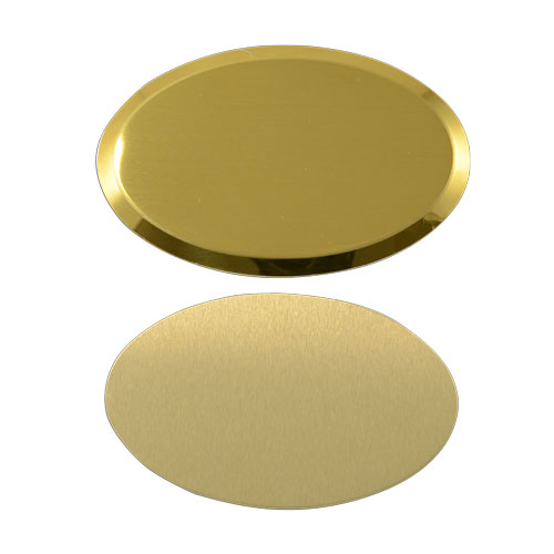 Oval Metal Yaka İsimliği (altın)