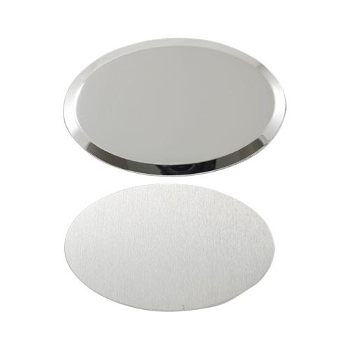 Oval Metal Yaka İsimliği (gümüş)
