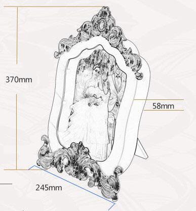 Sihirli Led Ayna Dekorlu Çerçeve- Şarjlı