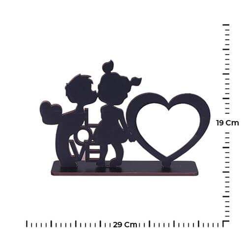 Siyah Ahşap Love Çerçeve 29x19 cm