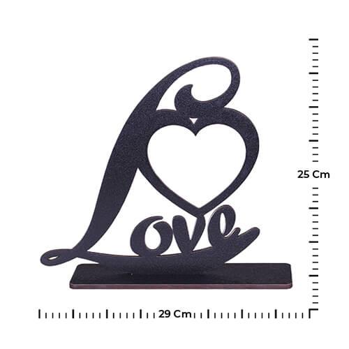 Siyah Ahşap Love Çerçeve 29x25 cm