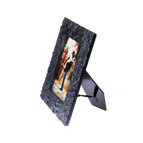 Siyah Dalgalı Taş Fotoğraf Çerçevesi 10x15 cm