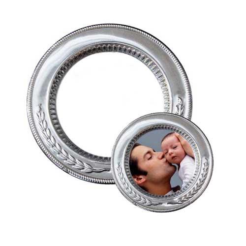 Sublimasyon 25 cm Gümüş Metal Tabak - Başak