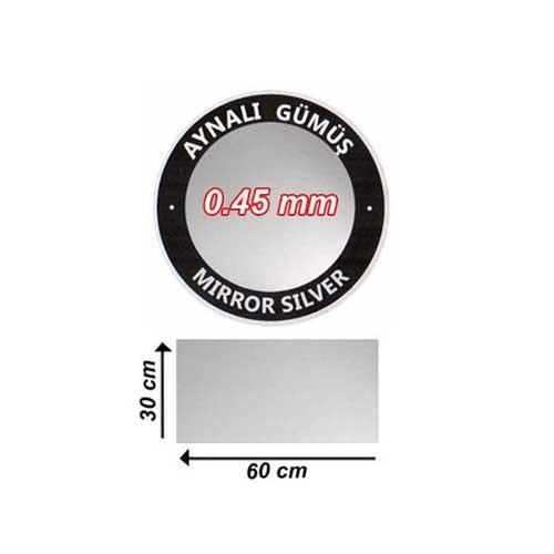 Sublimasyon Aynalı Gümüş Metal 30x60 cm - 0,45 mm