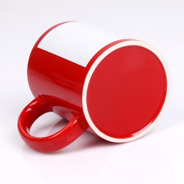 Sublimasyon Dekoratif Kırmızı Kupa (beyaz baskı alanlı)