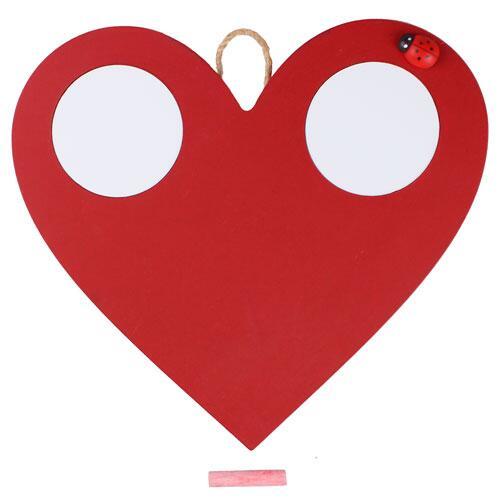 Sublimasyon Ahşap Kırmızı Kalp Çerçeve 25x26 cm