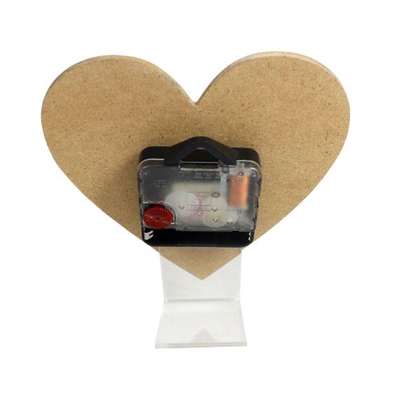Sublimasyon Metalli Kalp Masa Saati 14 cm