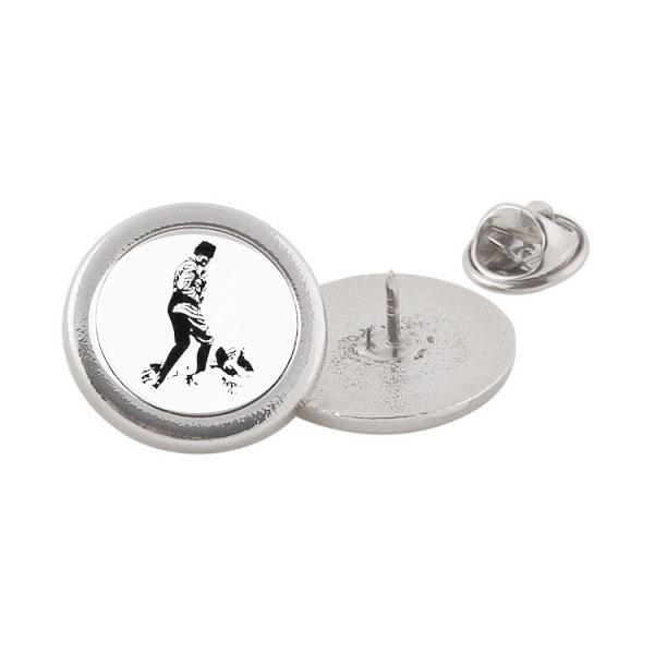 Sublimasyon Metal Yaka Rozeti - Gümüş