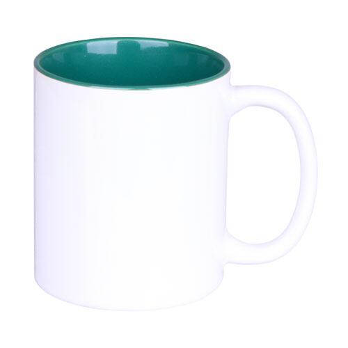 Sublimasyon Porselen İçi Yeşil Kupa